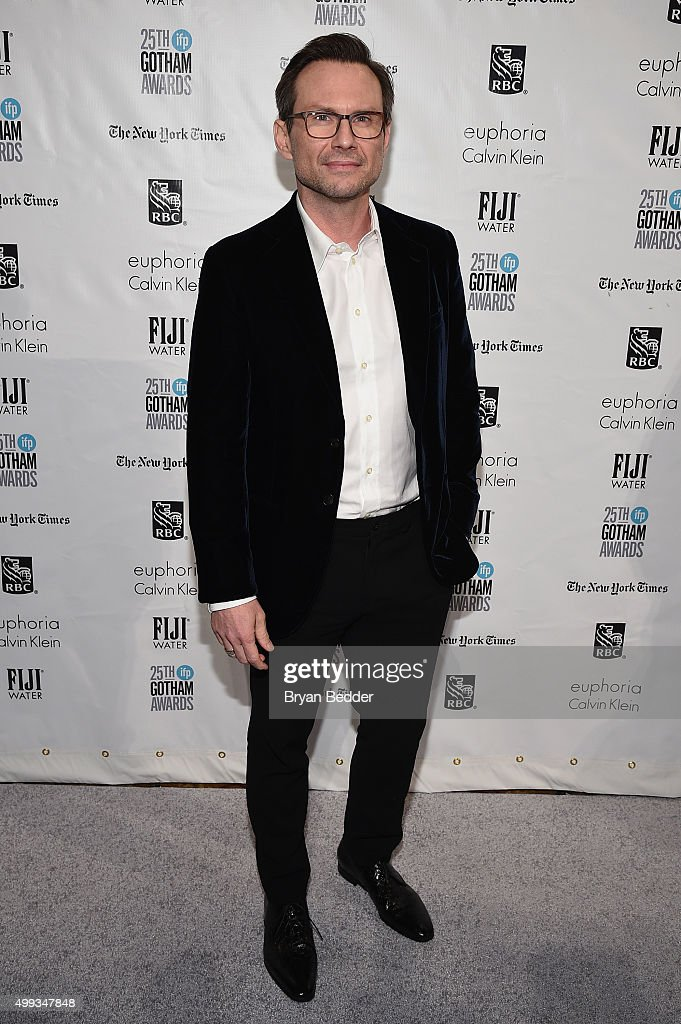 Christian Slater attends the 25th IFP Gotham Independent Film Awards cosponsored by FIJI Water at Cipriani Wall Street on November 30 2015 in New...