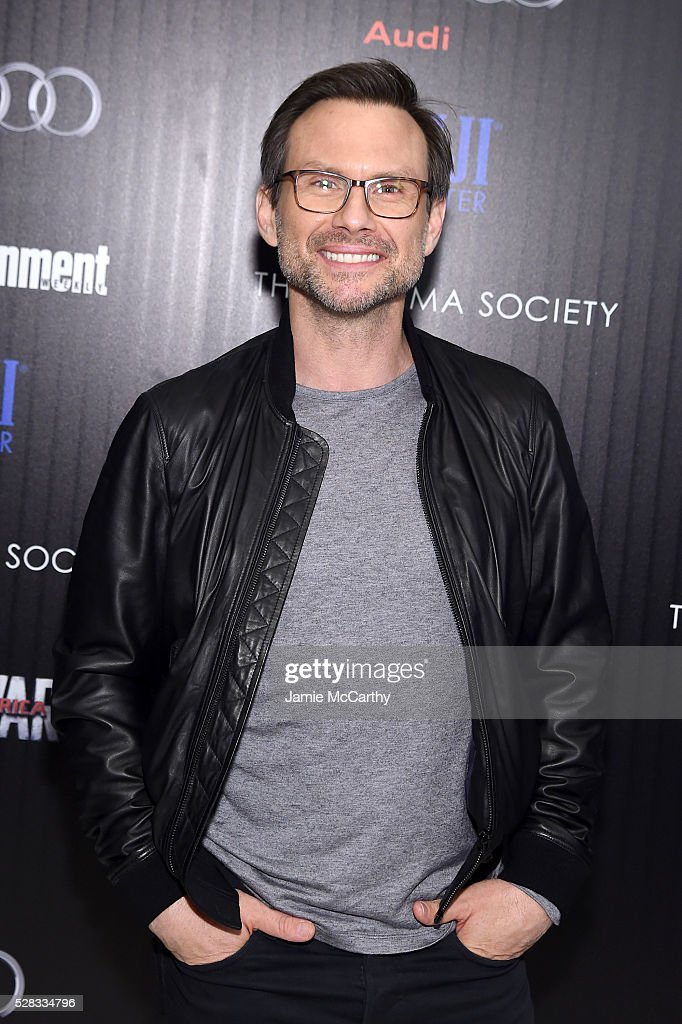 <a gi-track='captionPersonalityLinkClicked' href=/galleries/search?phrase=Christian+Slater&family=editorial&specificpeople=201651 ng-click='$event.stopPropagation()'>Christian Slater</a> attends the screening Of Marvel's 'Captain America: Civil War' hosted by The Cinema Society with Audi & FIJI at Henry R. Luce Auditorium at Brookfield Place on May 4, 2016 in New York City.