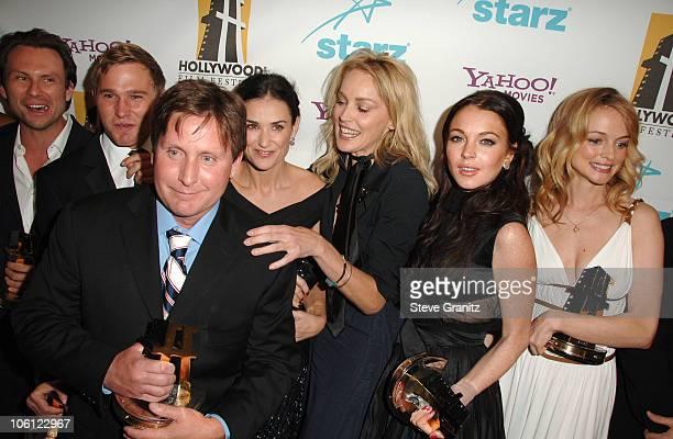 Christian Slater Brian Geraghty Demi Moore Emilio Estevez Sharon Stone Lindsay Lohan and Heather Graham