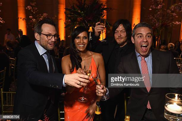 Christian Slater Padma Lakshmi Norman Reedus and Andy Cohen attend the 7th Annual Blossom Ball benefiting The Endometriosis Foundation Of America...