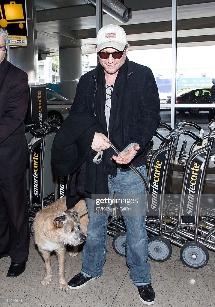 Christian Slater seen at LAX airport on February 22, 2014 in Los Angeles, California.
