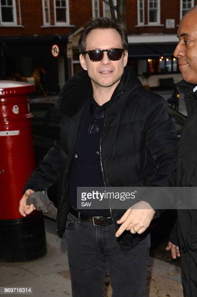 Christian Slater sighting at BBC Radio 2 on November 3 2017 in London England