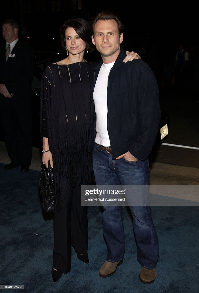 Christian Slater & wife Ryan Haddon during 12th Annual Environmental Media Awards at Wilshire Ebell Theatre in Los Angeles, California, United States.