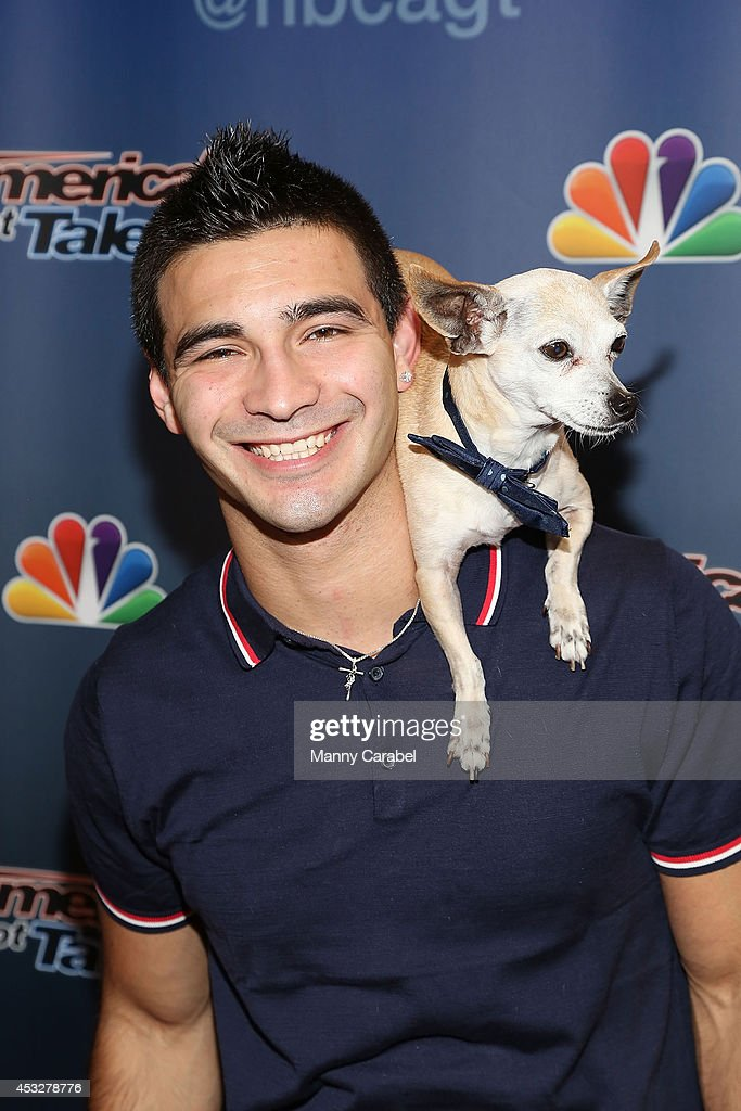 Christian Stoinev and Scooby attend 'America's Got Talent' season 9 post show red carpet event>> at Radio City Music Hall on August 6, 2014 in New York City.