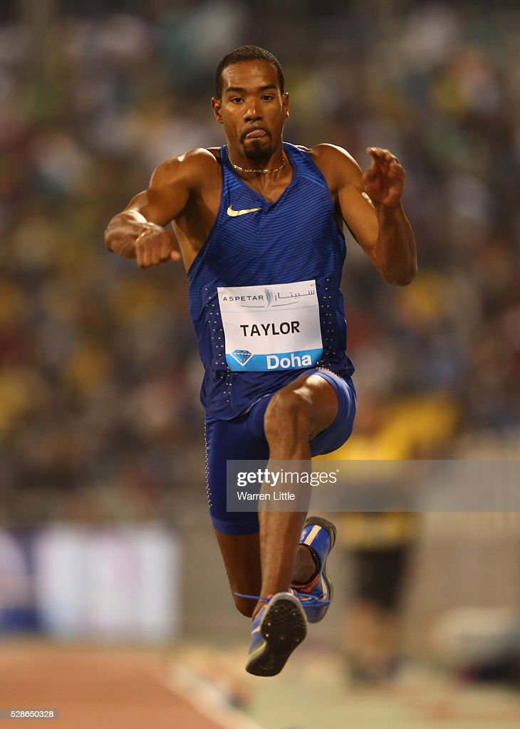 Christian Taylor of the United States competes in the Men's Triple Jump final during the Doha IAAF Diamond League 2016 meeting at Qatar Sports Club on May 6, 2016 in Doha, Qatar.