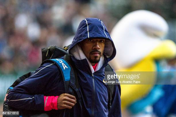 Christian Taylor of United States looks on during the AG Insurance Memorial Van Damme as part of the IAAF Diamond League 2015 in King Baudouin...