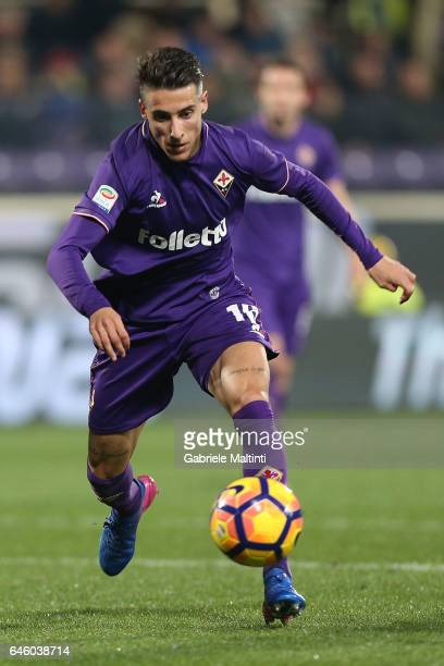 Christian Tello of ACF Fiorentina in action during the Serie A match between ACF Fiorentina and FC Torino at Stadio Artemio Franchi on February 27...