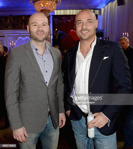 Christian Tews from the TV Show 'The Bachelor 2014' and his brother Daniel attend the Blaue Blume Awards during 64th Berlinale International Film...