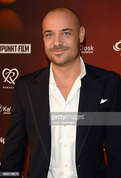 Christian Tews from the TV Show 'The Bachelor 2014' attends the Blaue Blume Awards during 64th Berlinale International Film Festival on February 14...