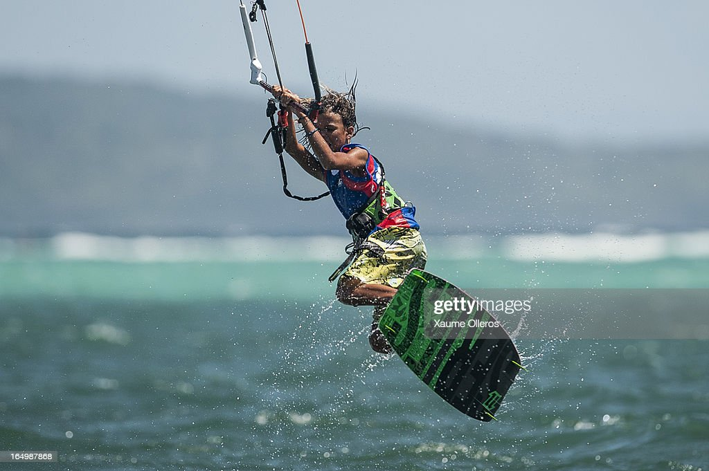 Christian Tio of Philippines competes on freestyle during day five of the KTA at Boracay Island on March 30, 2013 in Makati, Philippines.
