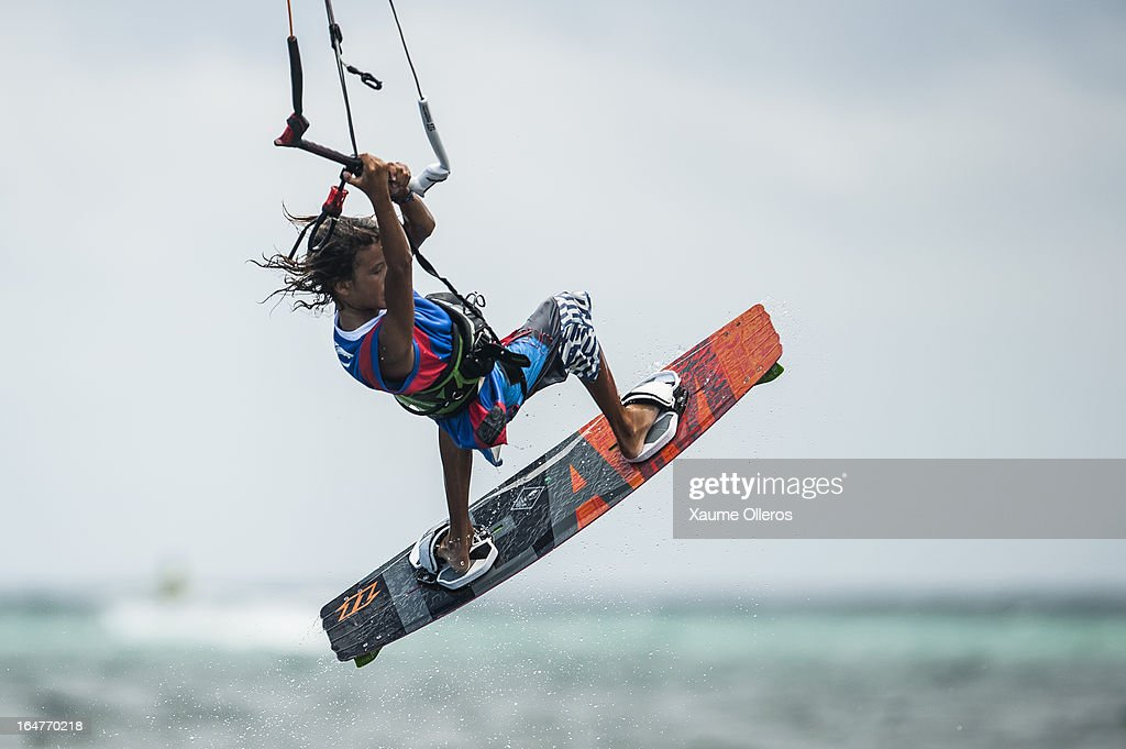 Christian Tio of Philippines competes on freestyle during day two of the KTA at Boracay Island on March 27, 2013 in Makati, Philippines.