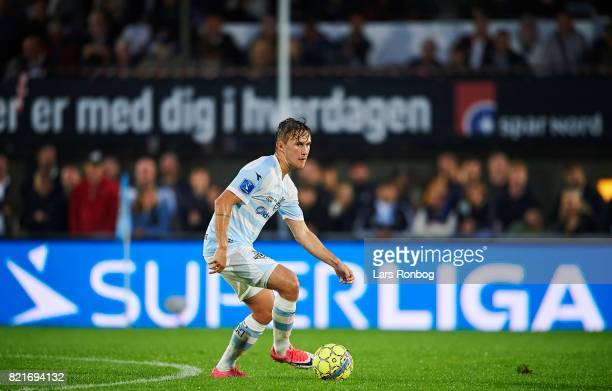 Christian TK Kohler of FC Helsingor controls the ball during the Danish Alka Superliga match between FC Helsingor and OB Odense at Helsingor Stadion...