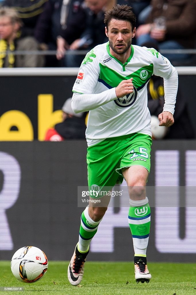 Christian Tr��sch of VFL Wolfsburg during the Bundesliga match between Borussia Dortmund and VfL Wolfsburg on April 30, 2016 at the Signal Idun Park stadium in Dortmund, Germany.