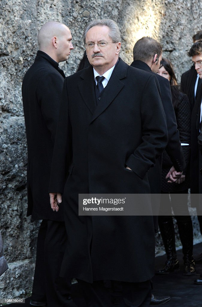 Christian Ude attends the memorial service for Bernd Eichinger at the St. Michael Kirche on February 07, 2011 in Munich, Germany. Producer Bernd Eichinger died of a heart attack in Los Angeles on January 24. Leading the Constantin Film he produced films like 'Perfume', 'Christiane F.', 'Smillas Sense of Snow' or 'Der Untergang' recieving multiple awards.