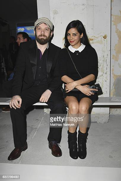 Christian Ulmen and Collien UlmenFernandes attend the 'Key Looks The Show' presented by Fashion ID show during the MercedesBenz Fashion Week Berlin...