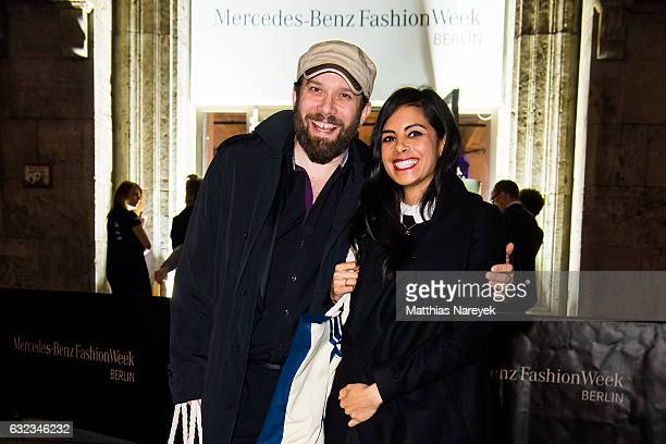 Christian Ulmen and Collien UlmenFernandes attend the 'Key Looks The Show' presented by Fashion ID after show reception during the MercedesBenz...