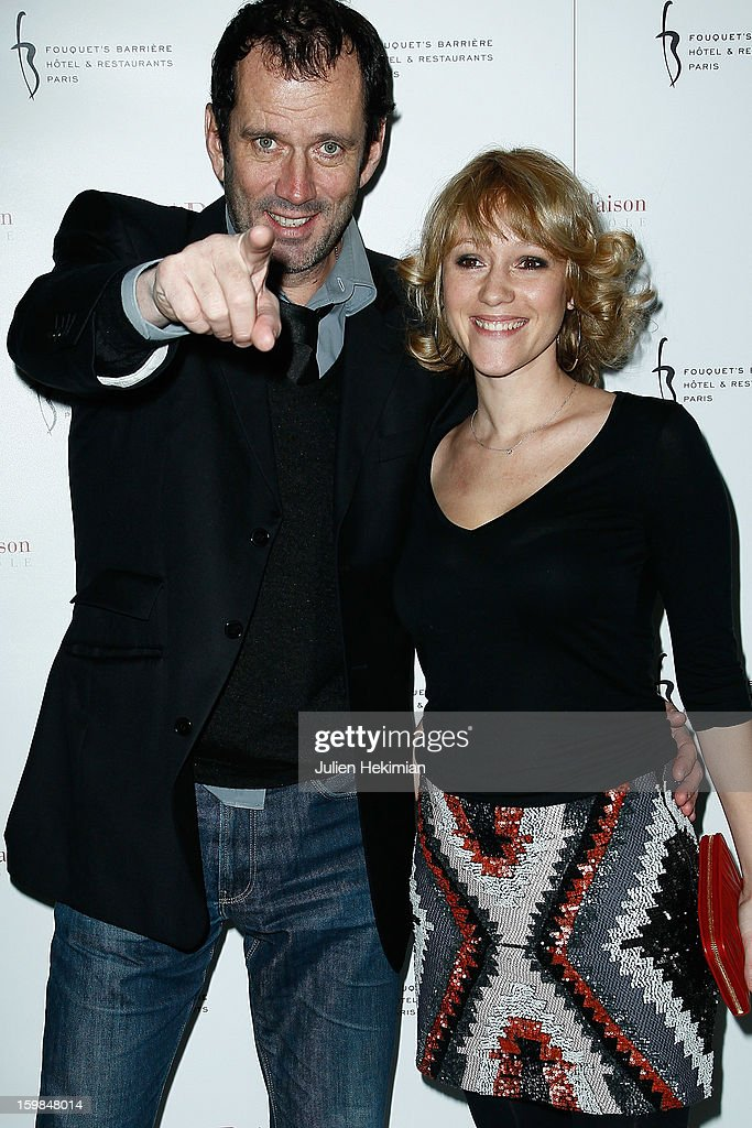 Christian Vadim and his wife attend 'La Petite Maison De Nicole' Inauguration Photocall at Hotel Fouquet's Barriere on January 21, 2013 in Paris, France.