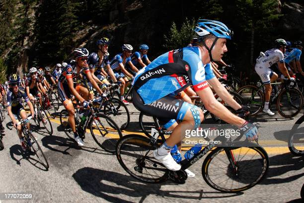 Christian Vande Velde of Team GarminSharp rides in the peloton during stage two of the 2013 USA Pro Cycling Challenge on August 20 2013 in...