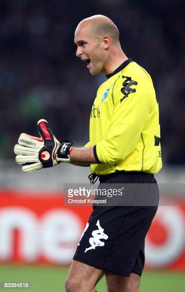 Christian Vander of Bremen shouts at his team during UEFA Champions League Group B match between Panathinaikos and Werder Bremen at the Olympic...