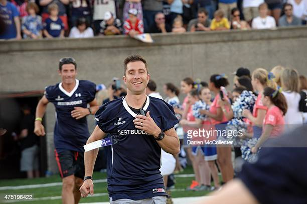 Christian Venda Velde and George Hincapie attend the Best Buddies Challenge Kick Off on May 29 2015 in Boston Massachusetts