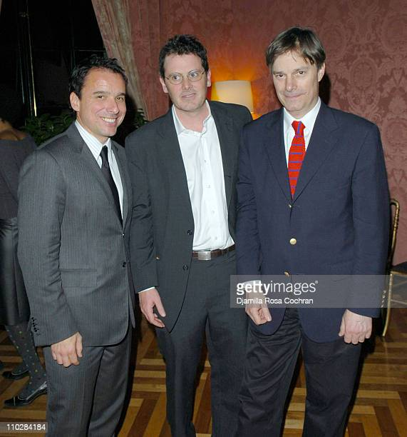 Christian Vesper Chris Eigeman and Whit Stillman during The French Consulate Host Rendezvous with French Cinema 2006 Party at French Consulate in New...