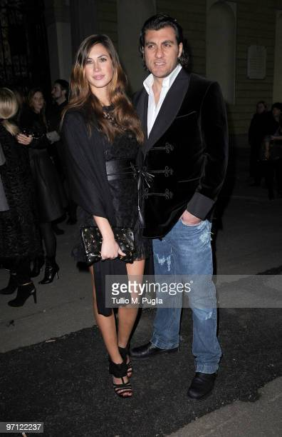 Christian Vieri and Melissa Satta attend Vogueit during Milan Fashion Week Womenswear Autumn/Winter 2010 on February 26 2010 in Milan Italy