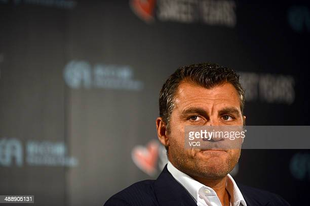 Christian Vieri attends Sweet Years press conference on May 8 in Guangzhou Guangdong Province of China