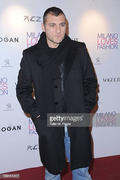 Christian Vieri attends the Duran Duran dinner and concert at the Teatro dal Verme as part of Milan Fashion Week Womenswear Autumn/Winter 2011 on...