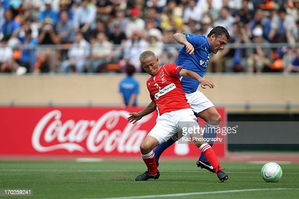 Christian Vieri of Glorie Azzurre in action during the JLeague Legend and Glorie Azzurre at the National Stadium on June 9 2013 in Tokyo Japan
