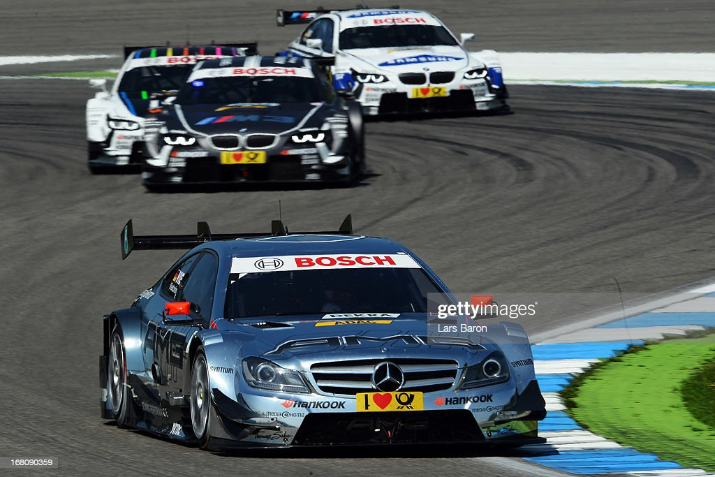 Christian Vietoris of Germany and Mercedes AMG drives during the first round of the DTM 2013 German Touring Car Championship at Hockenheimring on May 5, 2013 in Hockenheim, Germany.
