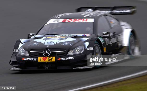Christian Vietoris of Germany and Mercedes HWA drives during the second round of the DTM 2014 German Touring Car Championship at Motorsport Arena...