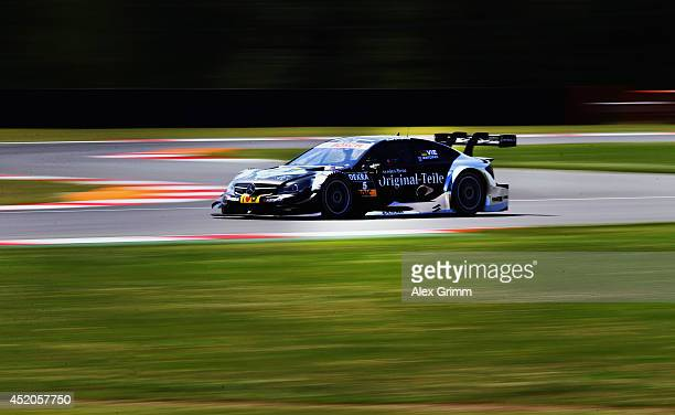 Christian Vietoris of Germany and Mercedes HWA drives during the training session ahead of qualifying for the fifth round of the DTM German Touring...