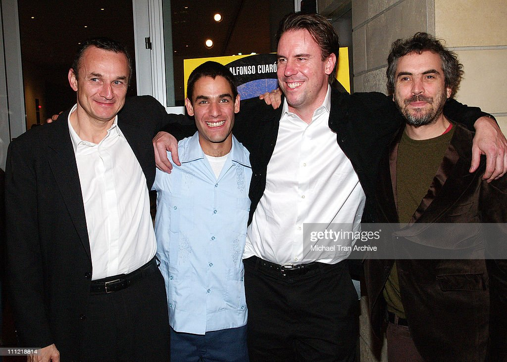 Christian Vladelievre, Producer, Fernando Eimbcke, Director, Mark Gill, President of Warner Independent Pictures and Alfonso Cuaron