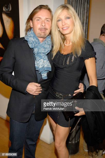 Christian Voigt and Dereza Romanelli attend Opera Gallery Opening Voigt Monet and Vukelic at Opera Gallery on April 15 2010 in New York City