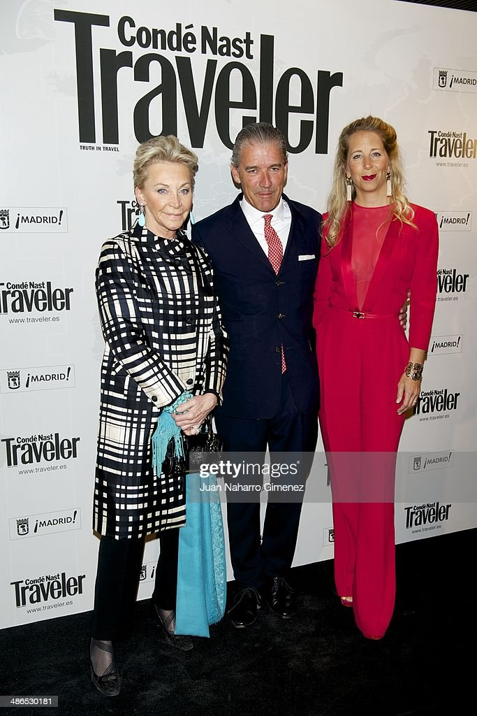 Christian Volkers (C) and wife Ninon Volkers attend the Conde Nast Traveler Awards 2014 at the Jardines de Cecilio Rodriguez on April 24, 2014 in Madrid, Spain.