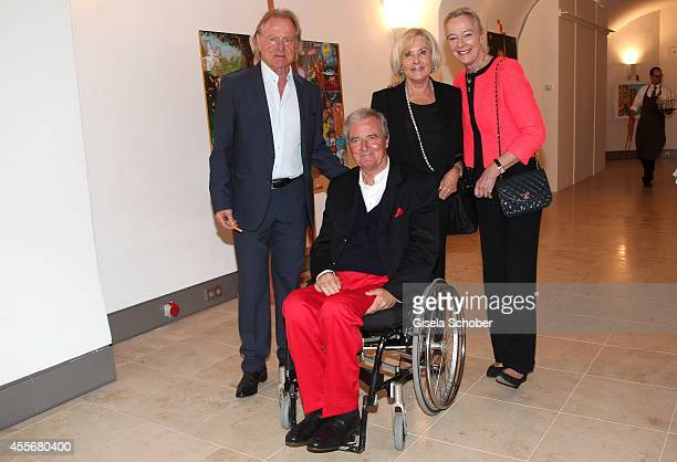 Christian von Pfuel Prince Peter zu Hohenlohe and his wife Princess Uschi zu Hohenlohe Inge Wrede Lanz attend the Exhibition Opening of Mauro...
