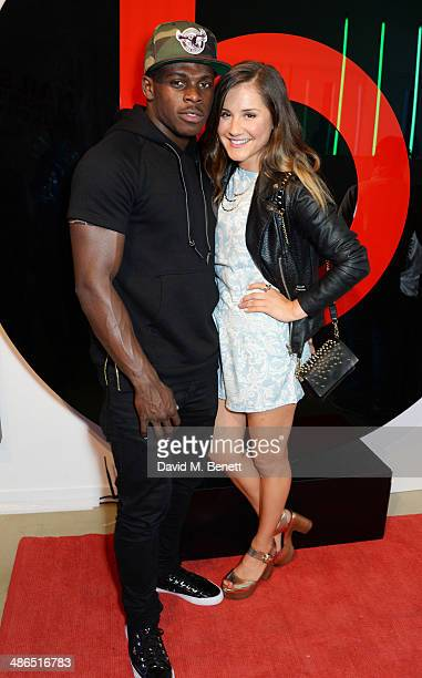 Christian Wade and Electra Formosa attend the Beats by Dr Dre Drenched in Colour nail event on April 24 2014 in London England