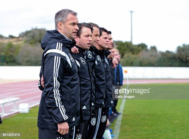 Christian Wück ant thecnical team of Germany U17 during the 40º Algarve International Tournament U17 Match between Netherlands U17 and Germany U17 on...