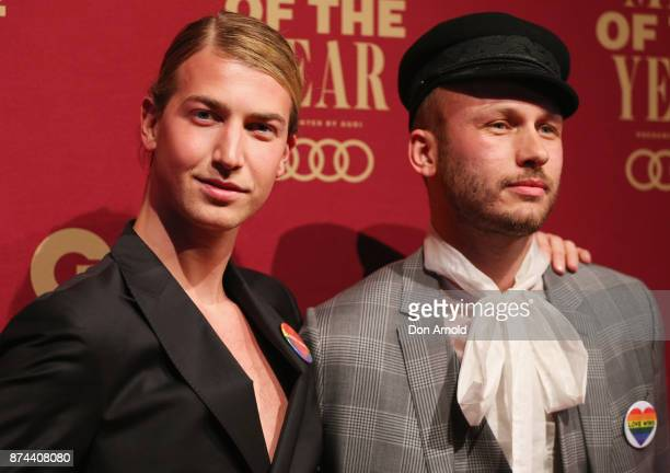 Christian Wilkins and Andrew Kelly attend the GQ Men Of The Year Awards at The Star on November 15 2017 in Sydney Australia