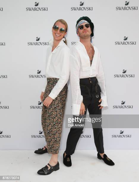Christian Wilkins and Andrew Kelly attend the Swarovski Rainbow Paradise Spring Summer 18 Collection Launch on November 24 2017 in Sydney Australia