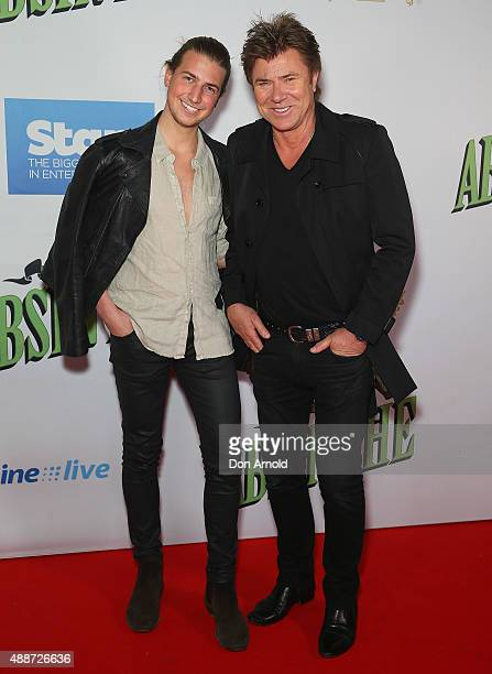 Christian Wilkins and Richard Wilkins arrive ahead of ABSINTHE by Spiegelworld Opening Night at Hyde Park on September 17 2015 in Sydney Australia