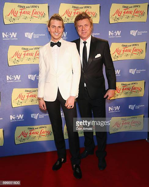 Christian Wilkins and Richard Wilkins arrive ahead of My Fair Lady opening night at Sydney Opera House on September 6 2016 in Sydney Australia
