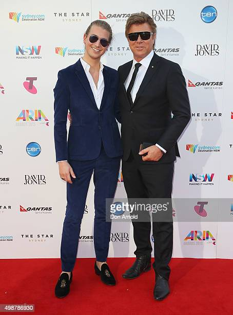 Christian Wilkins and Richard Wilkins arrive for the 29th Annual ARIA Awards 2015 at The Star on November 26 2015 in Sydney Australia