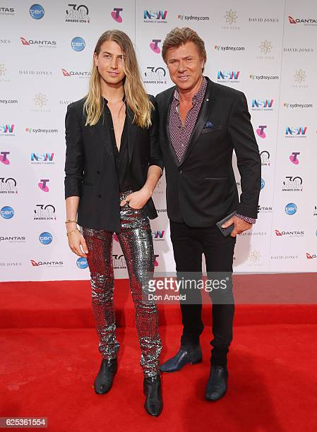 Christian Wilkins and Richard Wilkins arrive for the 30th Annual ARIA Awards 2016 at The Star on November 23 2016 in Sydney Australia