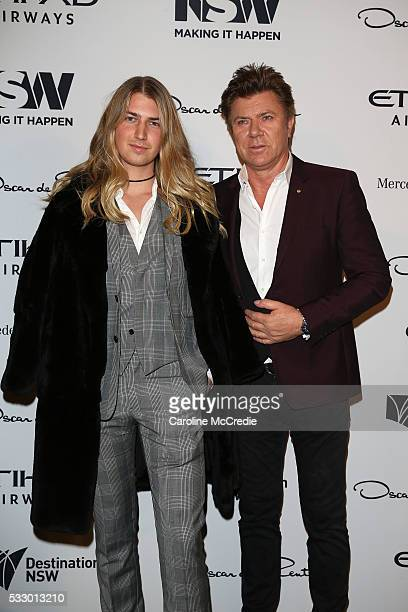 Christian Wilkins and Richard Wilkins attend the Oscar de la Renta show presented by Etihad Airways at MercedesBenz Fashion Week Resort 17...