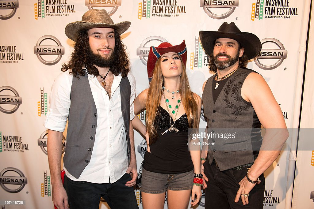 Christian Wolf, Angel Mary, and Antinio Wolf attends the 2013 Nashville film festival at Green Hills Regal Theater on April 24, 2013 in Nashville, Tennessee.