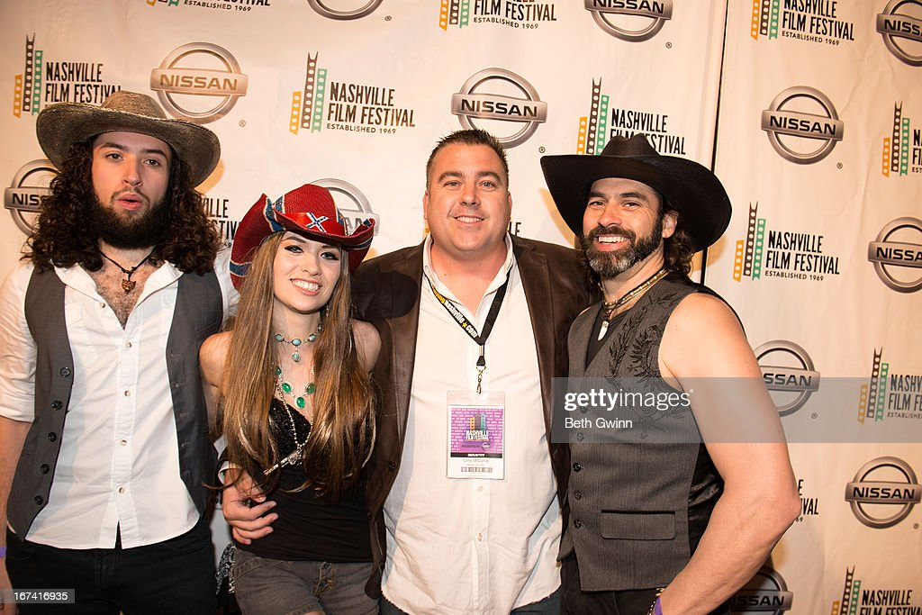 Christian Wolf, Angel Mary, Chris McDaniel, and Antoine Wolfe attends the 2013 Nashville film festival at Green Hills Regal Theater on April 24, 2013 in Nashville, Tennessee.