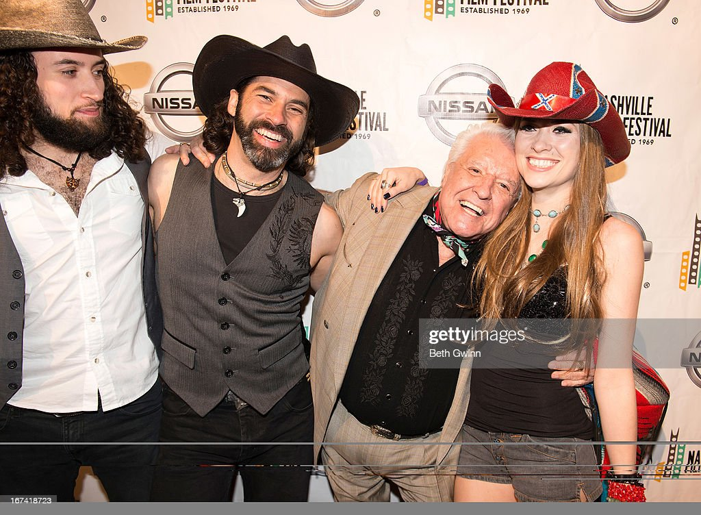 Christian Wolf, Antinio Wolf, Manuel, and Angel Mary attends the 2013 Nashville film festival at Green Hills Regal Theater on April 24, 2013 in Nashville, Tennessee.