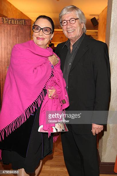 Christian Wolff and wife Marina attend the NDF After Work Presse Cocktail at Parkcafe on March 19 2014 in Munich Germany