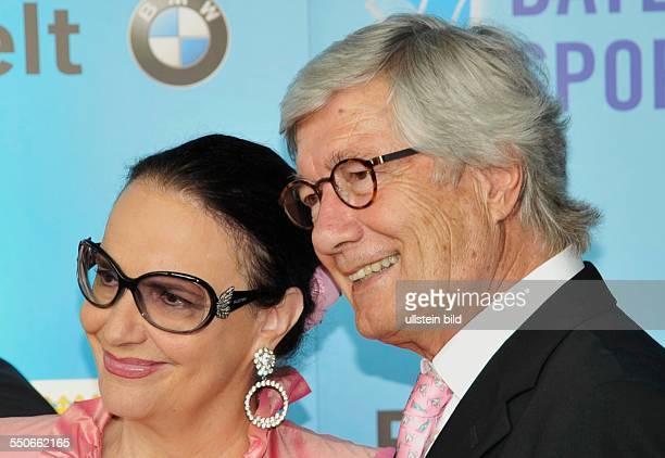 Christian Wolff und Frau Marina beim Bayerischen Sportpreis in der BMW Welt in München